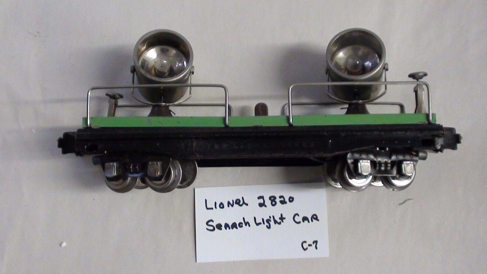 Lionel Floodlight Car  C-7