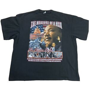 Martin-Luther-King-Jr-Barack-Obama-Shirt-3XL-The-Measure-Of-A-Man-Double-Sided