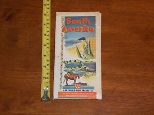 BROCHURE OLD VINTAGE 1966 MAY SOUTH AMERICA AAA WORLD WIDE TRAVEL