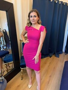 Ladies Party Dresses Wedding Guest Race Day Fashion Midi Dress UK Made RRP £65