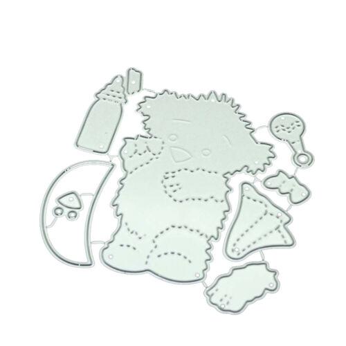 Bärchen Motiv Stanzschablone DIY Grußkarte Deko Kinder Geschenk Cutting Dies Süß