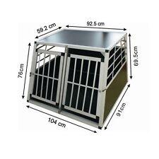 Trasportino Doppio gabbia  in alluminio  per cani da auto Large L 104 cm