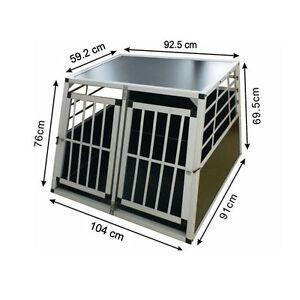 Trasportino Doppio Gabbia In Alluminio Per Cani Da Auto Large L 104