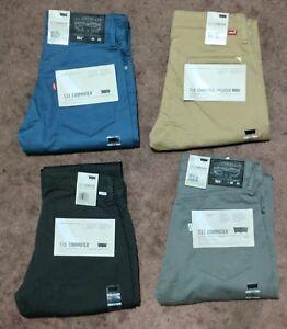 Levis-511-Slim-Fit-Commuter-Trousers-Pants-3M-Reflective-Stretch-Grey-Beige