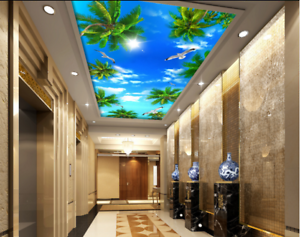 3D Sun Bird Tree Sky 9 Ceiling Wall Paper Print Wall Indoor Wall Murals CA Lemon