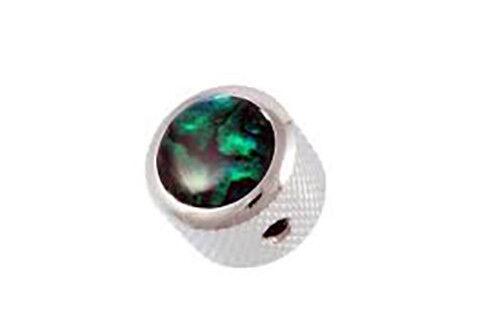 NEW Q Parts DOME KNOB Chrome /& Green Abalone Top Fits Strat Tele MK-3179-010