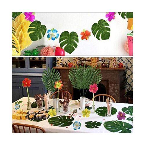 LOMIRO 36 Pcs 3 Kinds Artificial Palm Leaves Tropical Plant Faux Leaves Safar...