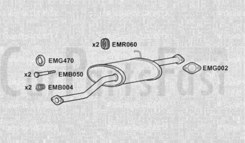 EXHY3033 EXHAUST CENTRE SILENCER 3Yr Warranty