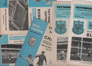 1966//67 TOTTENHAM HOME PROGRAMMES CHOOSE FROM