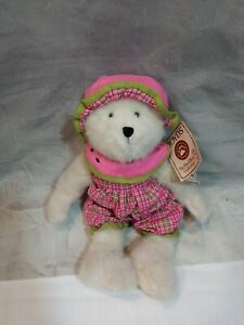 Boyds-Bears-SALLY-B-SUGARMELON-904410-14-inch-white-Watermelon-Bear