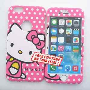 9cac0ff690 NEW! Hello Kitty Apple iPhone   Samsung S5 6 Note Front   Back Plate ...
