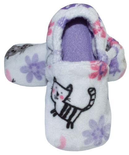 Kittens Toddler and Little Kids Slip Resistant House Slipper Shoes