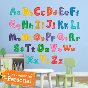 Details About Childrens Alphabet Wall Stickers Kids Bedroom Babies Art S Nursery Wa007