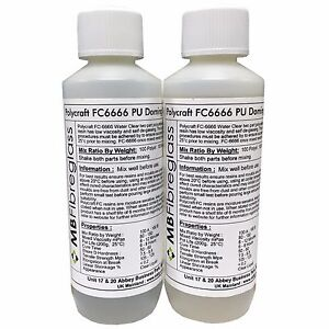 Polycraft-FC6666-Badge-Doming-Water-Clear-Polyurethane-Casting-Resin-500g-Kit
