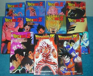 lot of 11 dragonball z vhs 3 episodes on each tape ebay
