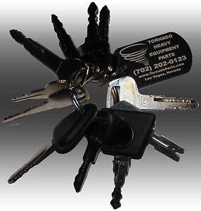 Forklift-Heavy-Equipment-Construction-Ignition-Key-Set-11-Keys