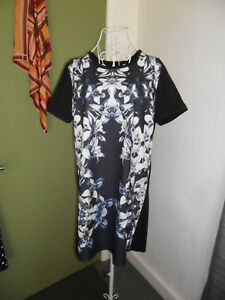 NEW-Ally-Size-14-Floral-Shift-Dress-Short-Sleeve-New-with-Tags