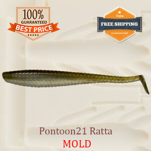 Pontoon21-Ratta-Shad-Fishing-Mold-Mould-Lure-Bait-Soft-Plastic-38-100-mm