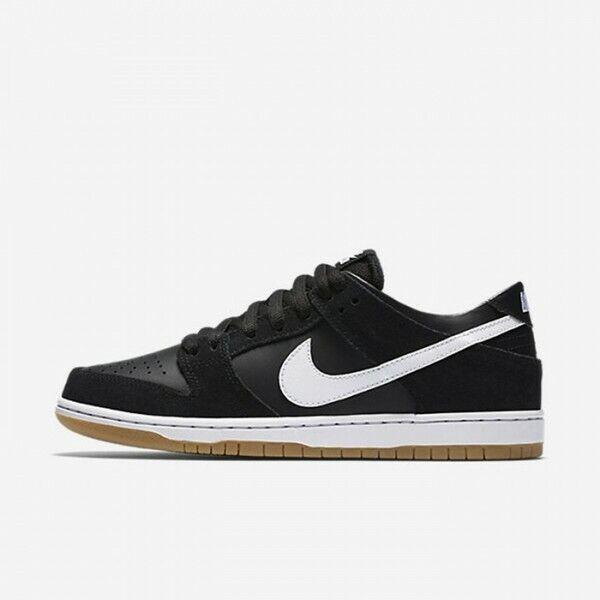 Nike MEN'S SB Zoom Dunk Low Pro Black White Gum Light Brown SIZE 10 BRAND NEW