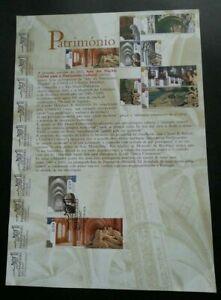 SJ-Portugal-UNESCO-Heritage-2002-Landmark-Tourist-stamp-ms-on-info-sheet