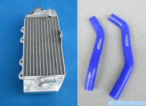 Blue-Aluminum-Radiator-amp-Hose-For-Yamaha-2002-2015-YZ85-YZ-85-08-09-10-11-12-13-14