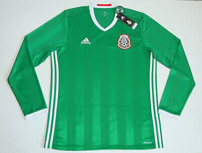 Mexico National Team 2016 – 2018 Home Adidas Long Sleeve LS Shirt size Large L | eBay