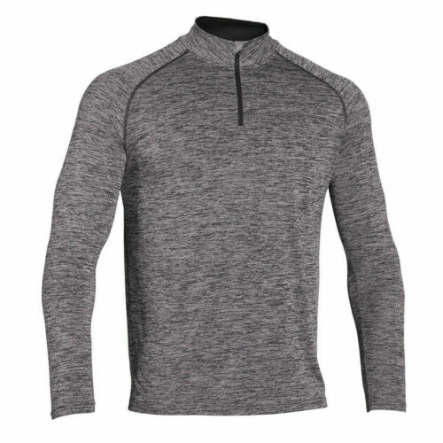 Mens Shirt 1//4 Zip T-Shirt Compression Top Long Sleeve Gym Wear Running Tights