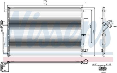 906 500 00 54 Sprinter AC Condenser OEM Behr Unit Dodge MB Freightliner