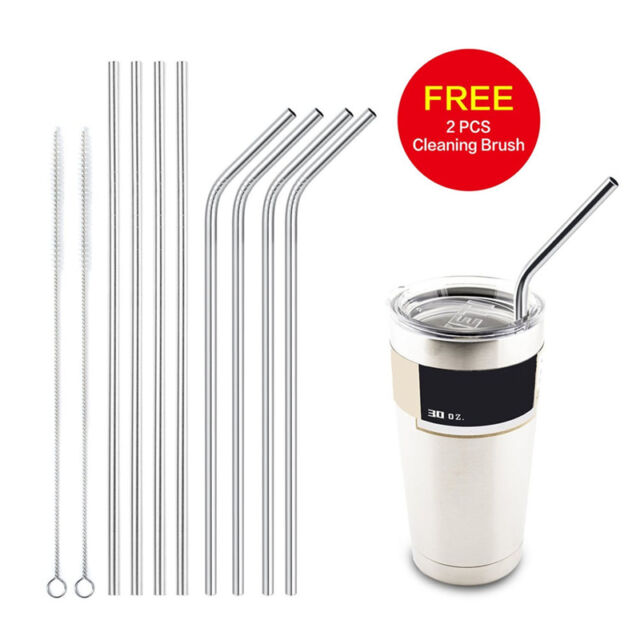 Stainless Steel Straws Reusable 10.5 inch Extra Long Drinking Straws Set Z