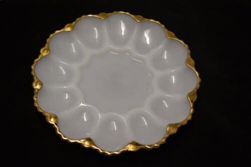 Vintage Egg Plate Retro Anchor Hocking Devilled 12 Egg Plate 1970's lot 9