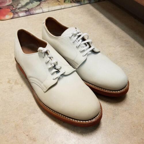 Original 1950's Walkover Vtg White Bucks Shoes 10