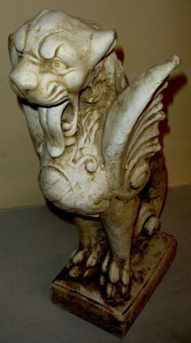 """24/"""" Royal Griffin Gargoyle Gryphon Mythical Lion Antique Statue Sculpture"""
