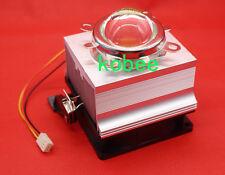50W 100W LED Aluminium Heat Sink Cooling Fan+60°44mm Lens + Reflector Bracket