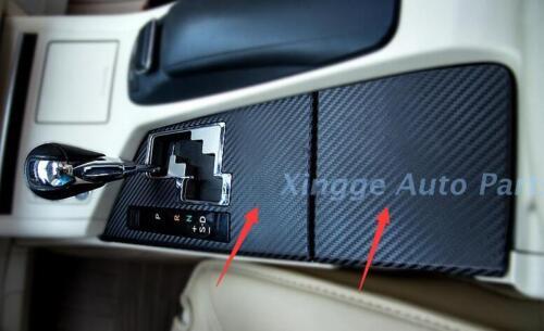 2PCS Fiber Carbon Gear Decorate Panel Sticker Trim For Lexus ES250 ES350 ES300H