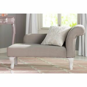 Details About Chaise Lounge For S Bedroom Gray Solid Wood Children Daybed Sofa Couch New