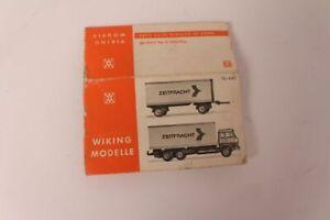 Wiking-Modelos-Maleta-Trailer-440-Pista-H0-Caja-Caja-Vacia-Colector-De