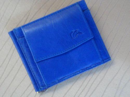 *Herren Leder Mini Geldbörse royalblau italbörse Kollektion Rindleder