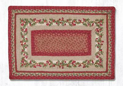 Braided Rectangle Print Patch Jute Area Rug 2 Sizes Earth Rugs Cranberries Ebay