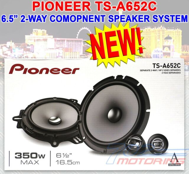 """Pioneer TS-A1680F 350 W Max 6.5/"""" 4-Way 4-Ohm Stereo Car Audio Coaxial Speakers"""