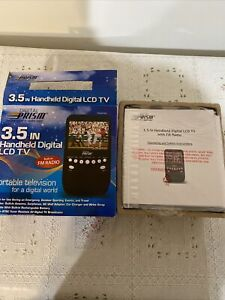 """DIGITAL PRISM 3.5"""" INCH HANDHELD PORTABLE LCD TV & FM Radio TESTED NEW IN BOX"""