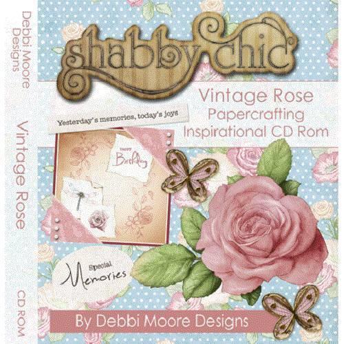 298072 Debbi Moore DESIGNS VINTAGE ROSE Papierhandwerk Inspiration CD-ROM
