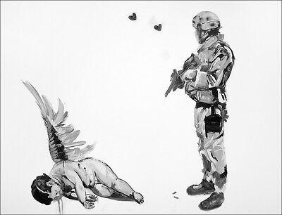 Fallen angel iron on t shirt transfer or sticker Banksy graffiti art