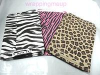 300 5x7 Hot Pink Zebra, Leopard, Zebra Striped Bags,wholesale Animal Paper Bags