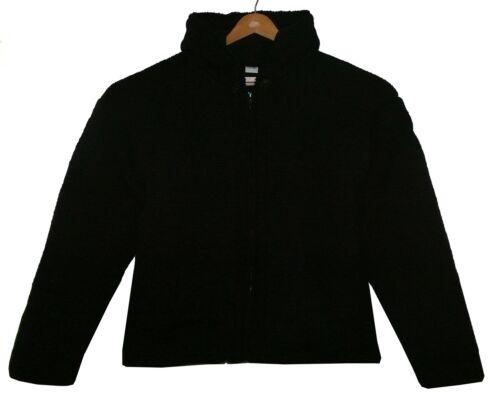 Ethno in Nero Gr pile Jacket Nepal lana Winter Fodera Cardigan 100 xl nqIgIZwC