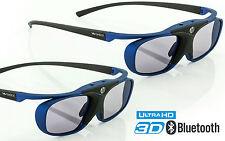 2x 3D Brille Hi-SHOCK Deep Haven für Bluetooth TV Sony Sharp Samsung Panasonic