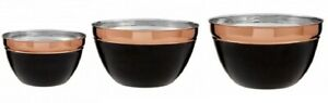 Prescott-Mixing-Bowl-Small-Medium-Large-Stainless-Steel-Charcoal-amp-Copper-Tones