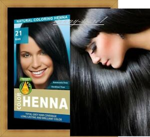 Details zu Henna Natural Hair Dye Aroma Powder Hair Color Toner Black