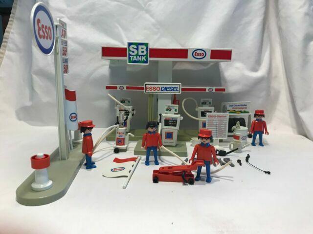 station-grand dapeau esso 3439 wrinkled broken Playmobil r32c03