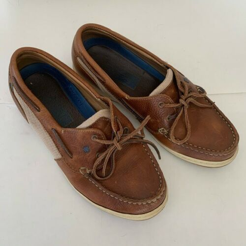Dubarry brown leather deck shoes size
