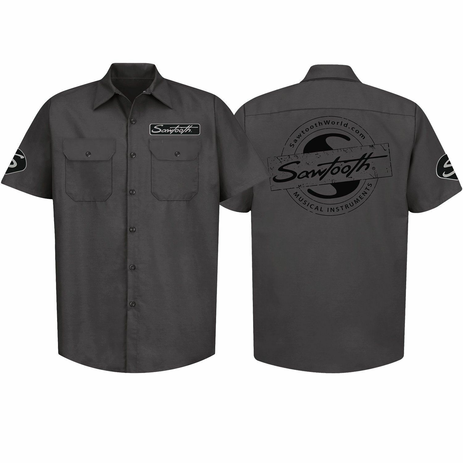 Sawtooth Short Sleeved Work Shirt with Logo